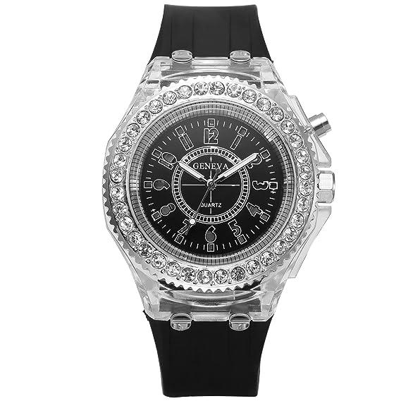 eastpole Classic LED Digital Light Negro Pulsera de cuarzo Lady mujer reloj de pulsera waa922: Amazon.es: Relojes