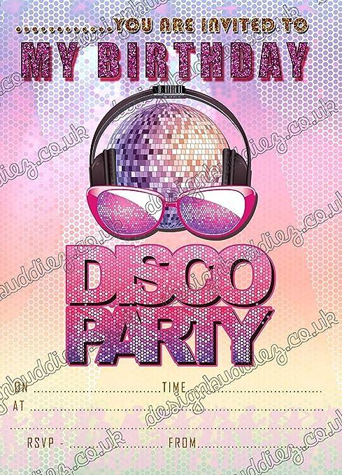 Invitaciones Para Fiestas De Discoteca Invitaciones Para
