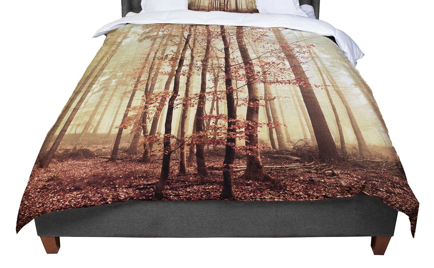KESS InHouse Iris Lehnhardt Autumn Again Brown King 104 X 88 Cal King Comforter