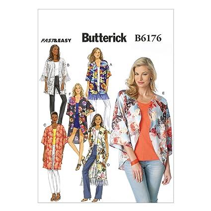 Amazon.com: Butterick Patterns B6176ZZ0 Misses\' Kimono Sewing ...