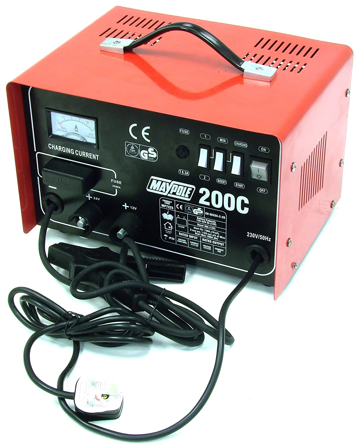 Charging 30AMP Maypole MP7225 Charger 12//24V MAX Output Start 200AMP