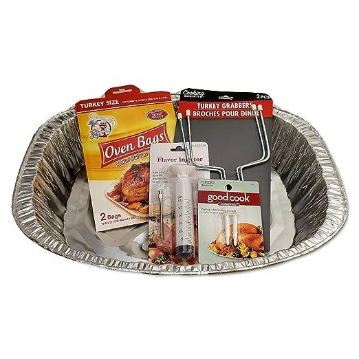 Pavo asado Pan-Timers-Flavor Injector-Horno Bolsas-Turquía ...