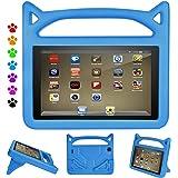 F ir e 7 Tablet Case, All-New F ir e 7 2017 Case, F ir e 7 Tablet Case for Kids, Ubearkk Kids Shock Proof Protective Cover Case for F ir e 7 Tablet (2015&2017 Release) (Blue)
