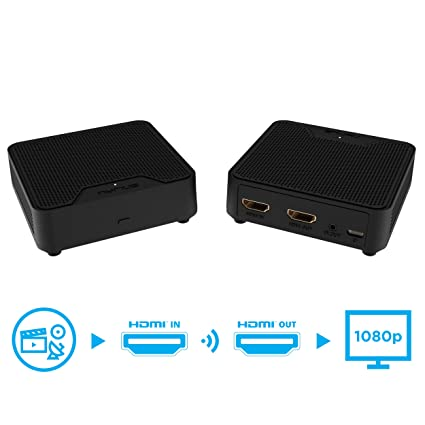 Nyrius WS55 Wireless HDMI Video Transmitter & Receiver for Streaming HD  1080p Video & Digital Audio from A/V Receiver, Cable/Satellite Box,  Blu-ray,