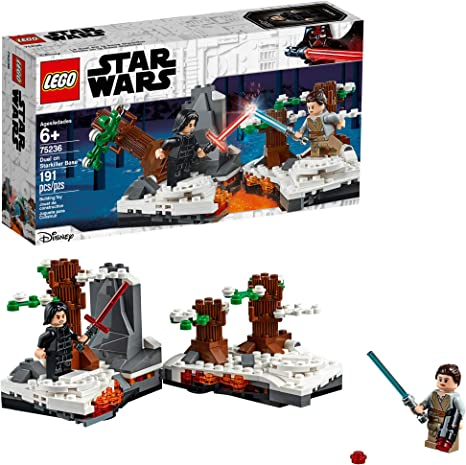 Amazon Com Lego Star Wars The Force Awakens Duel On Starkiller Base 75236 Building Kit 191 Pieces Toys Games