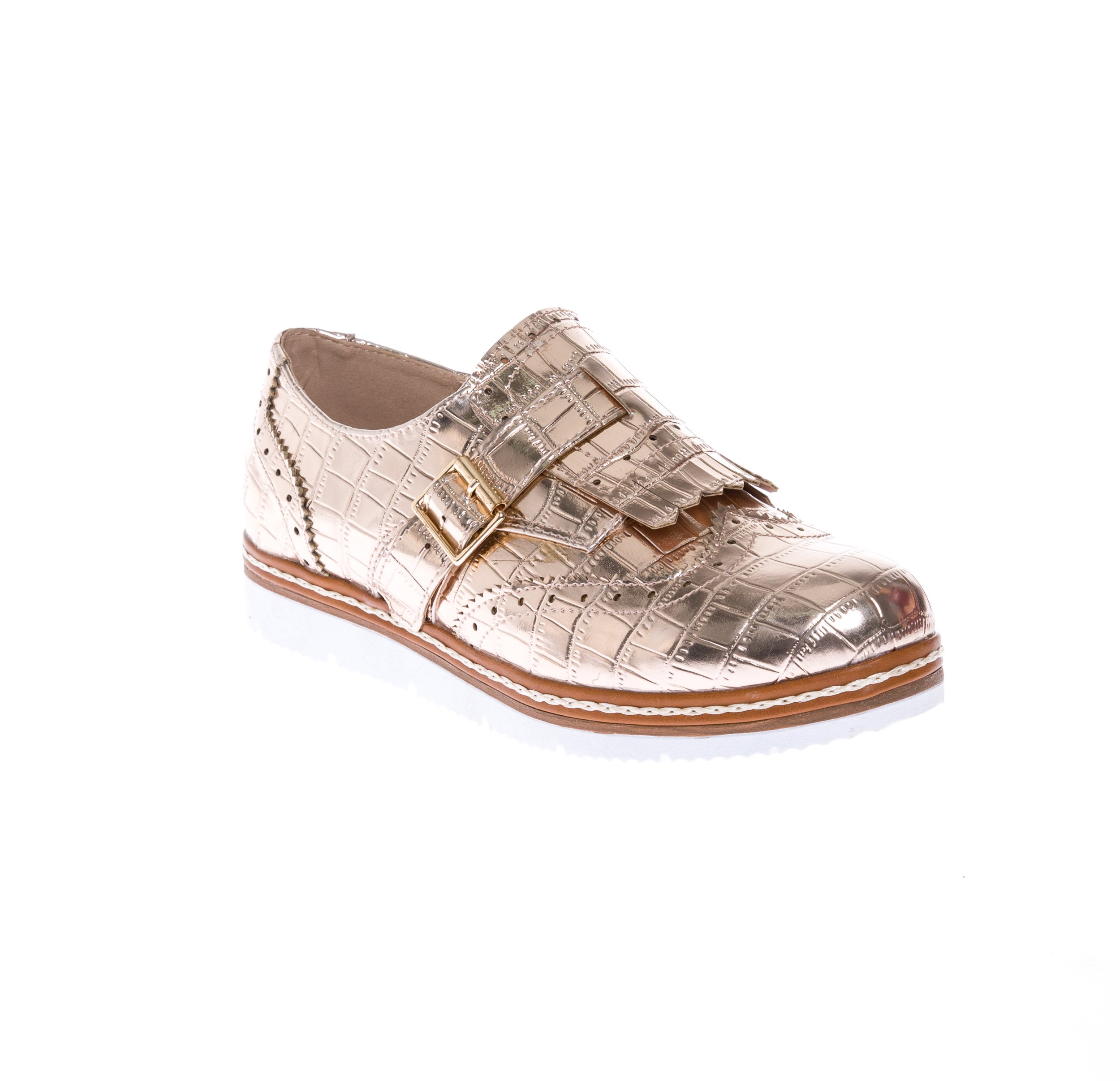 CALICO KIKI Women's Casual Oxford Comfort Flat Shoes (10 US Rose Gold)