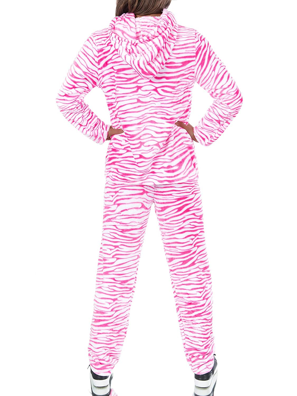 L701 Damen Hausanzug Homewear Schlafanzug Teddyanzug Pyjama Plüsch 2-Teiler