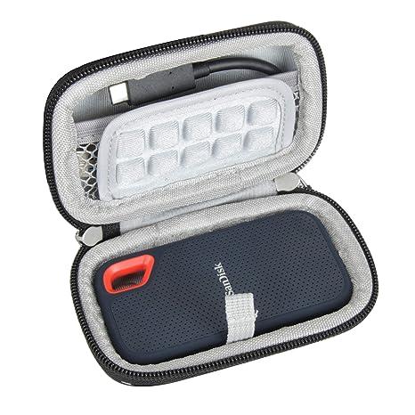 Hermitshell Duro Eva Viajar Caso para SanDisk Extreme Portable SSD ...