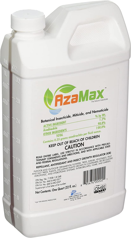 General Hydroponics GH2021 Azamax Antifeedant and Insect Growth Regulator, Quart