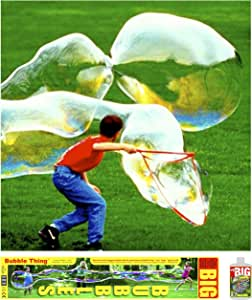 BUBBLETHING Giant Big Bubbles Wand and Mix. Bubbles Biggest by Far (See Videos).