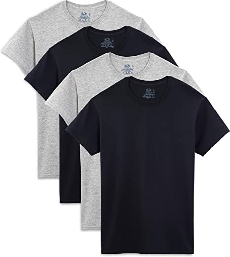 TALLA M. Fruit of the Loom Hombre Cuello Redondo tee Four-Pack