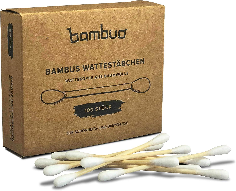 bambuo bambú bastoncillos con Cabeza – plastikfrei – de algodón ...