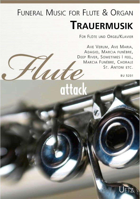 Deuil Musique Pour Flûte Et Orgue/piano/funeral Music For Flute & Organ (Partition Et Voix) (Flute Attack)
