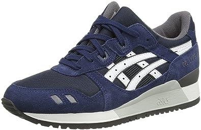 Asics Gel-Lyte Iii, Unisex-Erwachsene Sneakers, Blau (Navy/White
