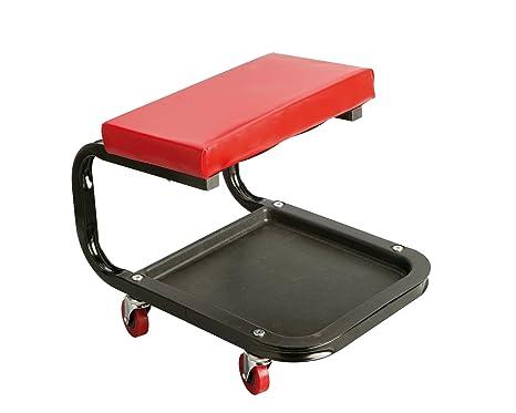 Unitec 10017 sgabello da officina con rotelle: amazon.it: auto e moto