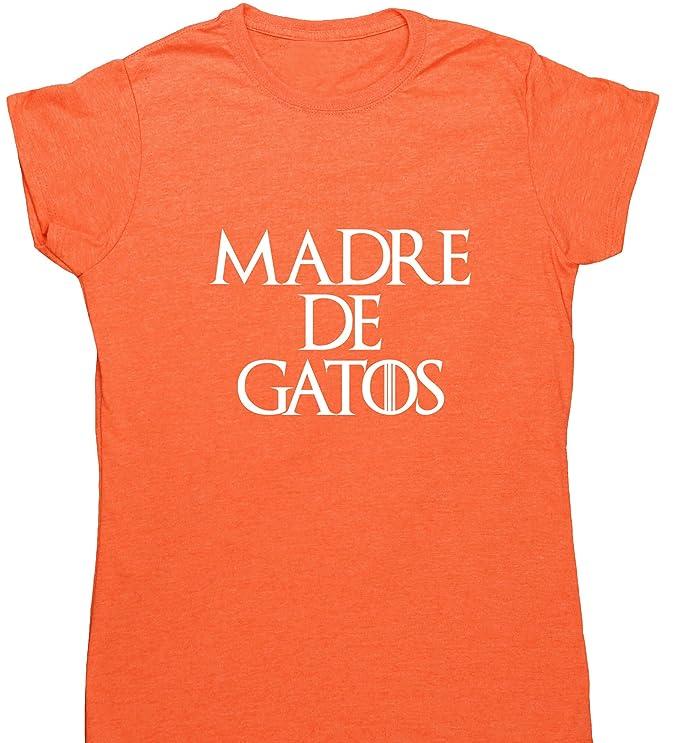 HippoWarehouse Madre de Gatos camiseta manga corta ajustada para mujer: Amazon.es: Ropa y accesorios