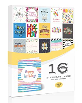 New 16 x general birthday cards by olivia samueltm multipack with new 16 x general birthday cards by olivia samuel multipack with envelopes quality m4hsunfo