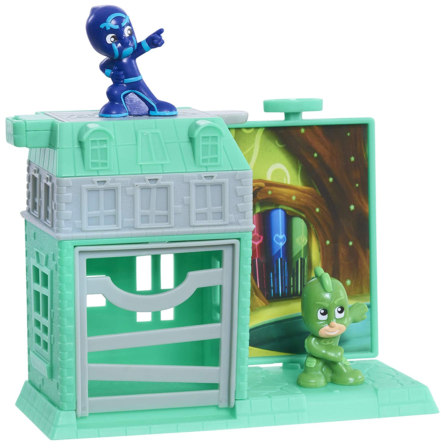 PJ Masks Nighttime Micros Trap & Escape Playset – Gekko vs. Night Ninja