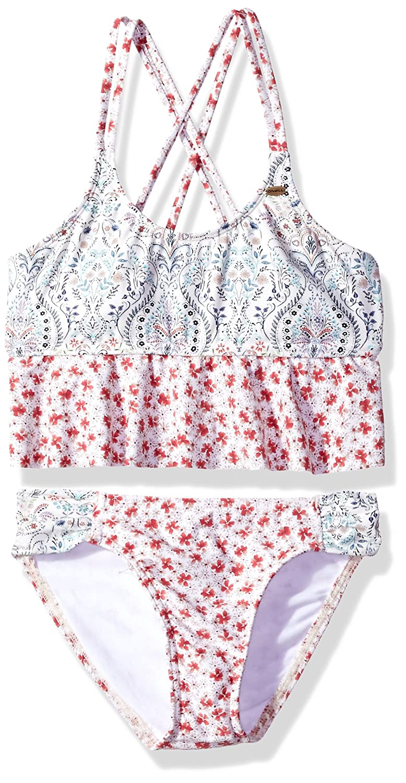 ONeill Big Girls Chica Ruffle Tank Swimsuit