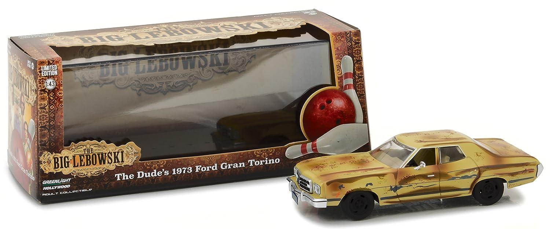 Modelo DieCast Auto 1973 FORD GRAN TORINO de EL GRAN LEBOWSKI Escala 1:43 de Greenlight