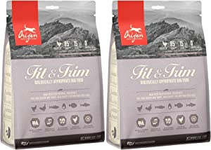Orijen 2 Pack of Fit & Trim Dog Food, 12 Ounces Each, Grain-Free Kibble Made in The USA