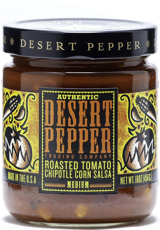 Desert Pepper Roasted Tomato Chipotle Corn Salsa, Medium, 16-Ounce