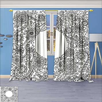 Amazon Com Amapark Rustic Home Decor Curtains Ethnic Floral