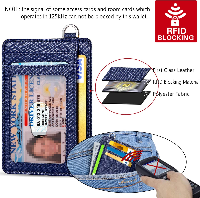 Front Pocket Wallets Credit Card Holder with Disassembly D-Shackle RFID Blocking FurArt Slim Minimalist Wallet