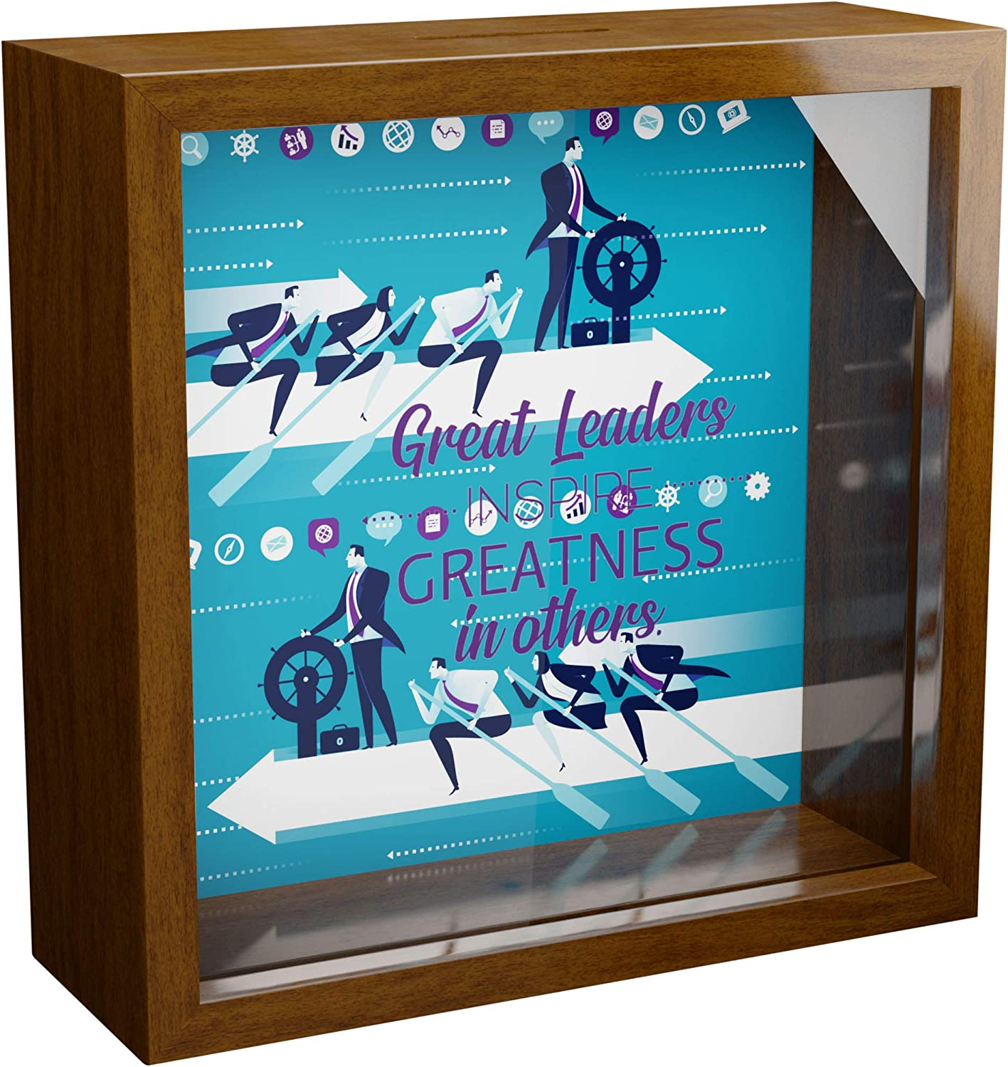 Manager Gifts   6x6x2 Wooden Shadow Box Ideal for Male or Female Managers   Perfect Boss Lady Gift   Best Appreciation Presents for Boss Day   Funny Art Print for Supervisor   Unique Office Picture