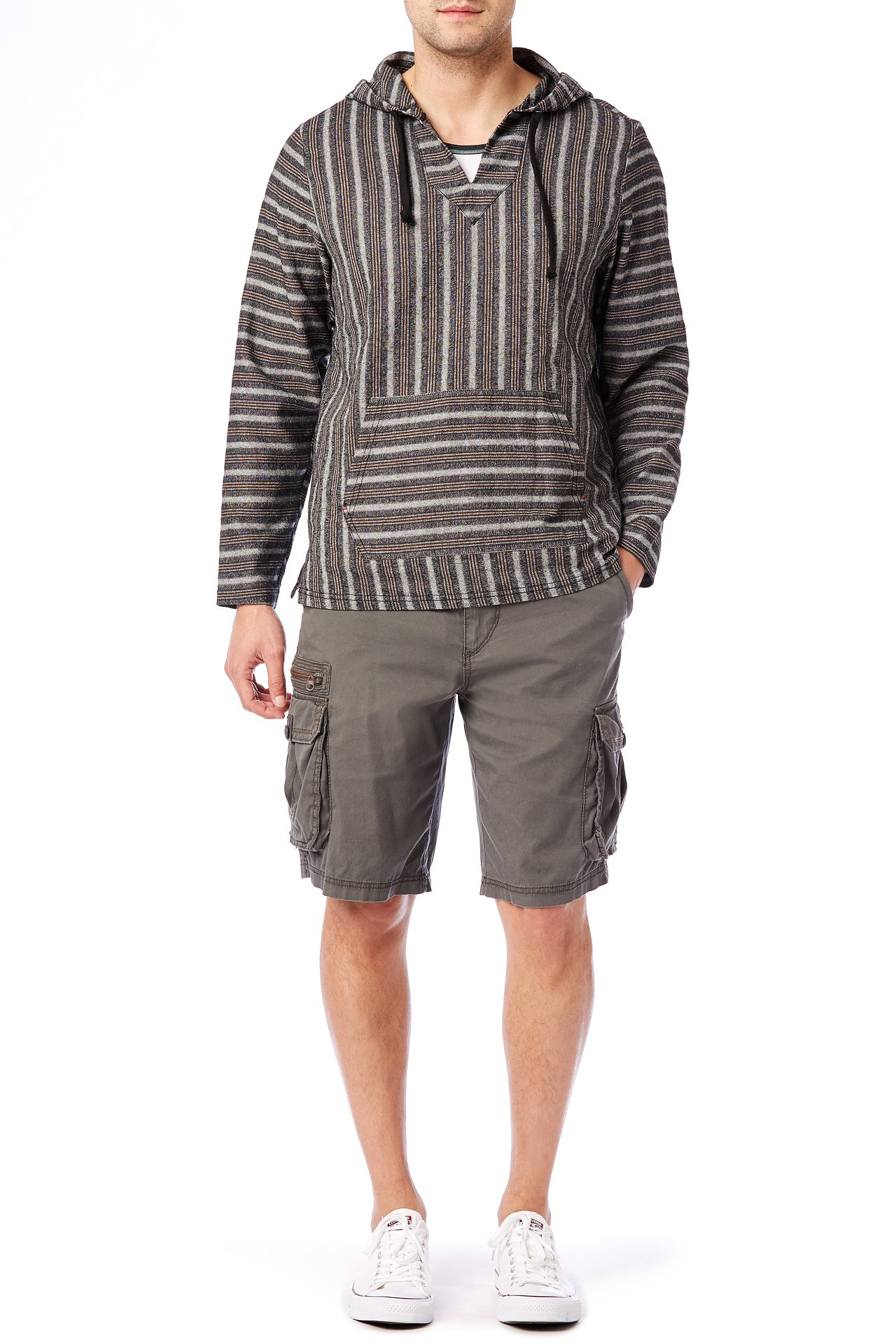 UNIONBAY Men's Stretch Fresh Twill Relaxed Fit Zipper Cargo Short, Flint, 38 by UNIONBAY (Image #3)