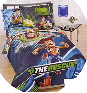 Toy Story 3D Full Size 7pcs Bedding Set   U0027To The Rescueu0027
