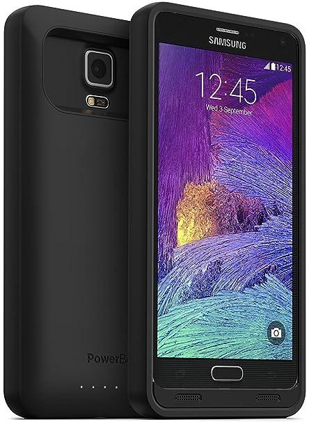PowerBear Nota 4 caso [4500 mAh] de alta capacidad batería externa cargador de batería para Samsung Galaxy Note 4 (hasta 140% batería adicional) – ...