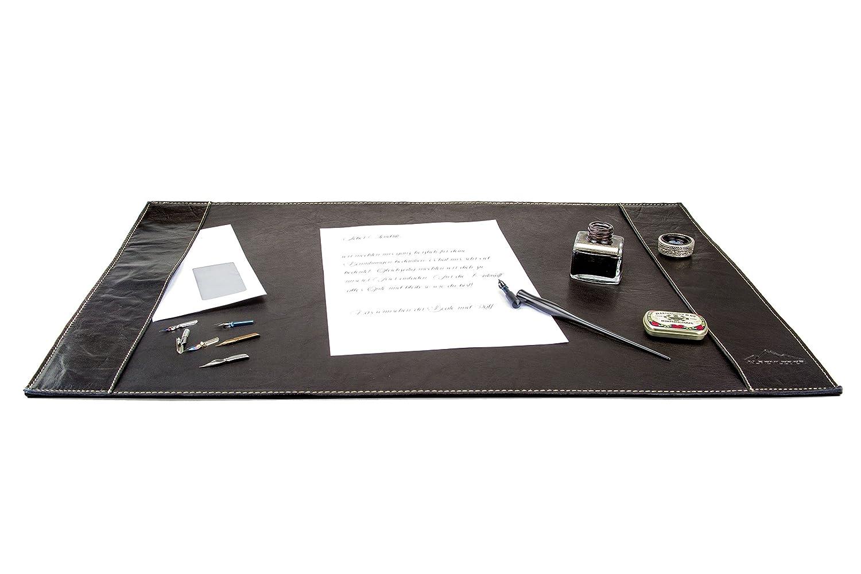 Braun Schreibtisch-UnterlageTIROL By Alpenleder Brandy Echtes B/üffel-Leder