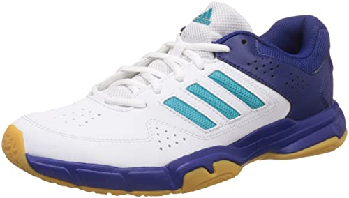 2203dc4bc3d7e2 Adidas Men s Quickforce 3.1 Ftwwht Eneblu Mysink Badminton Shoes - 10  UK India