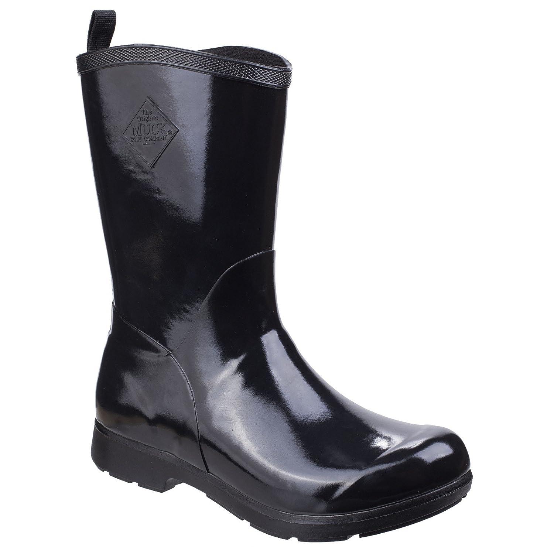 Muck Boot Womens/Ladies Bergen Mid Lightweight Rain Boots B07DBV4YSK 11 M US|Black