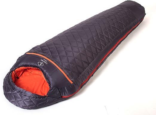 Lestra Mount Everest Base 210 Saco de dormir con cremallera a la derecha: Amazon.es: Deportes y aire libre