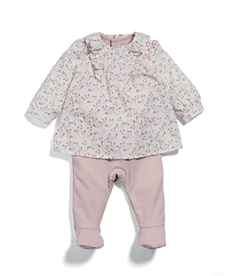 30a63e108 Mamas   Papas Baby Girls  Mock Blouse All in One Sleepsuits  Amazon ...