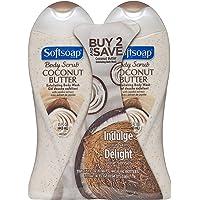 2-Pack 15oz Softsoap Body Butter Coconut Scrub Body Buff Wash