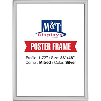 Amazon.com: Displays2go 36 x 48 Wall Mount Poster Frame with Hinged ...