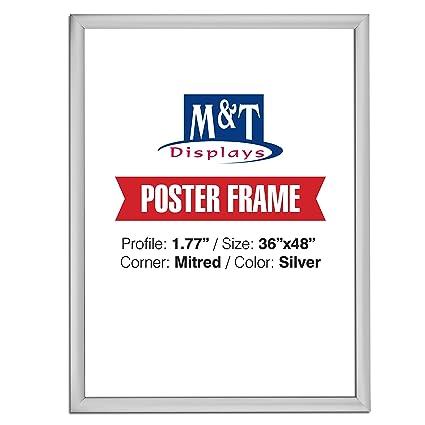 Amazon.com - DisplaysMarket Snap Frame, 36X48 Poster Size, 1.77 ...