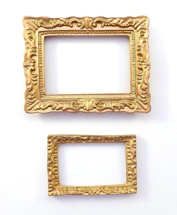 Melody Jane 2 leerer Puppenhaus Gold Bild Gemälde Bilderrahmen ...