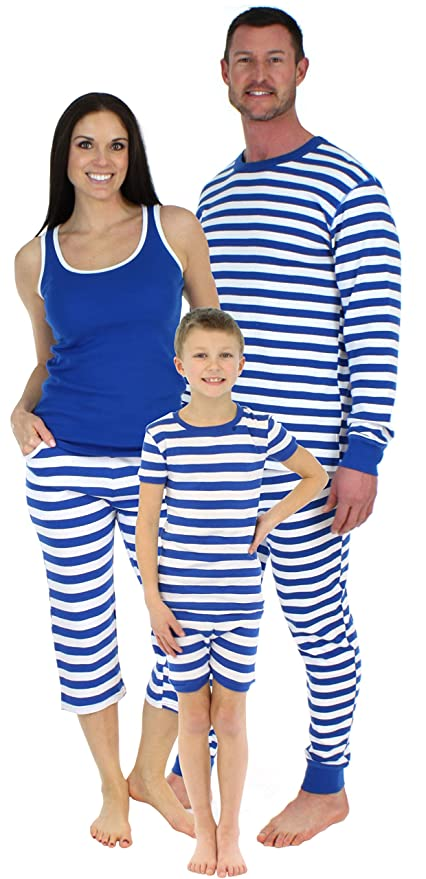 SleepytimePjs Family Matching Sleepwear Cotton Striped Pajama Sets for  Vacation at Amazon Men s Clothing store  a324f1ba8