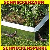 Schneckenzaun Typ 2, 25 cm hoch, 100 cm lang, Metall mit doppeltem Korrosionschutz