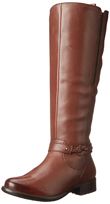 Amazon.com | Clarks Women's Plaza Market Riding Boot | Knee-High