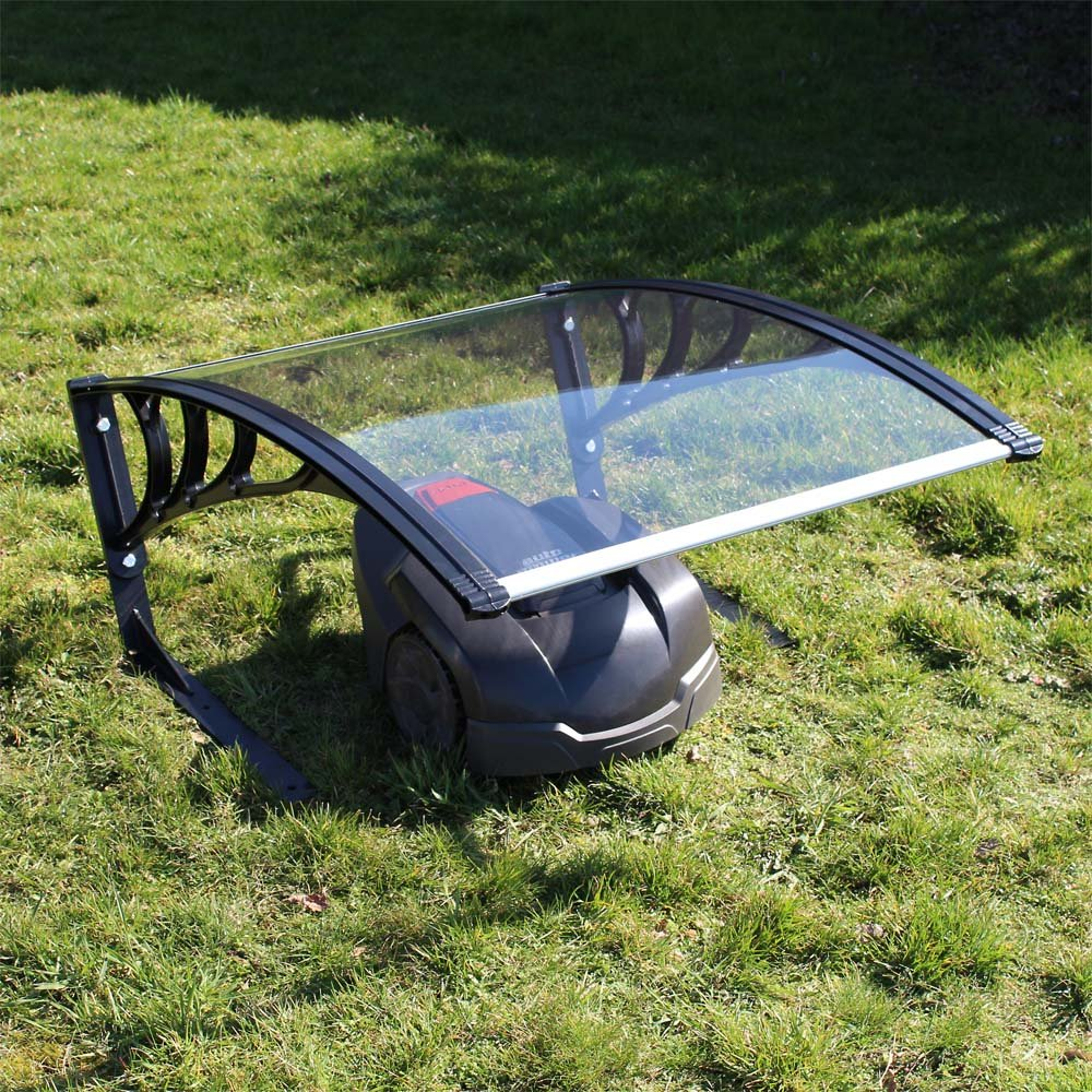 Caseta Garaje Refugio para Robot Cortacésped Segador Automower Techo transparente Jardín: Amazon.es: Jardín