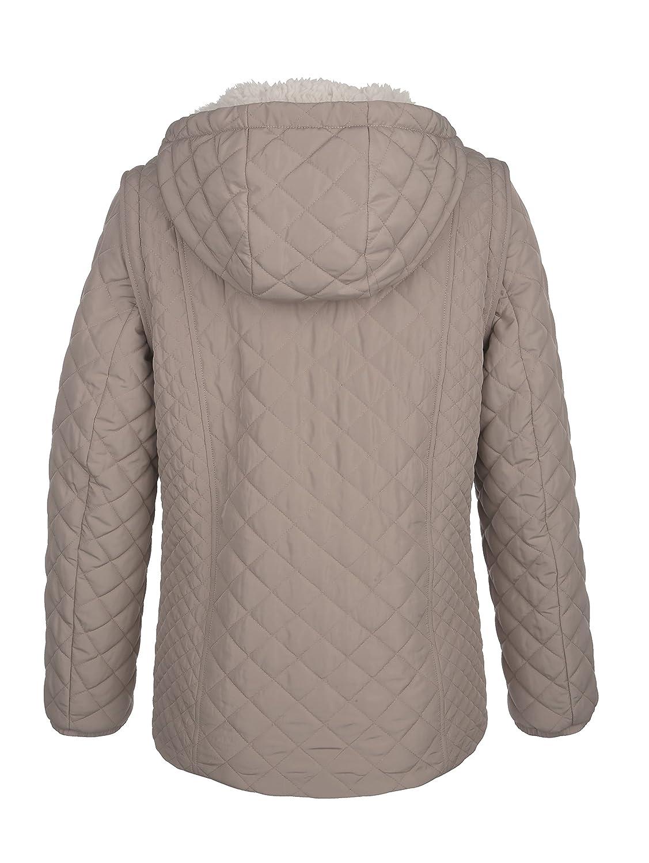 Dress in Damen Jacke mit warmen Teddyfell innen Pflegeleicht
