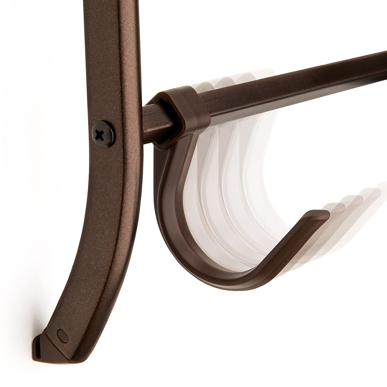 Lynk Over Door or Wall Mount Scarf Holder Bronze Lynk® 144211 Belt Jewelry Accessory Hanger 16 Hook Organizer Rack Hat
