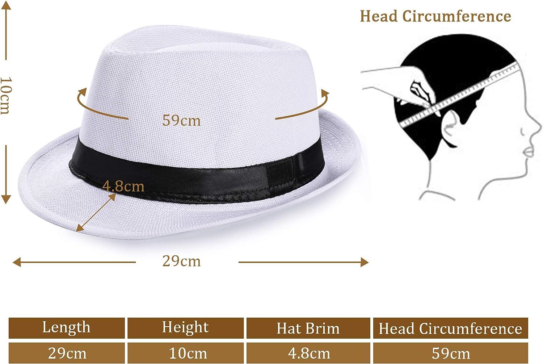 Coucoland Panama Cappello Mafia Gangster Uomo Fedora Trilby Bogart Cappello Uomo 1920s Gatsby Accessori Costume