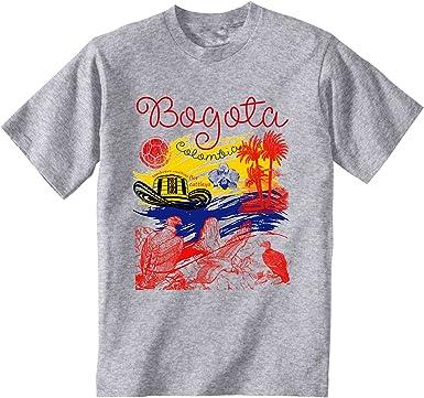 teesquare1st Bogota Colombia Camiseta Gris para Hombre de Algodon: Amazon.es: Ropa y accesorios