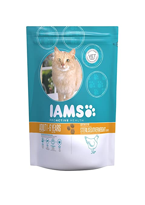 IAMS Proactive Health Adult Light In Fat For Sterilised/Overweight Cat Chicken Comida para Gatos